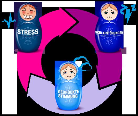 Der Teufelskreis  Stress-Schlaf-Stimmung
